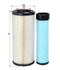 Фильтр воздушный SAKURA A8506S, к-т 2шт