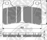 Колодки тормозные мото NIBK PM203