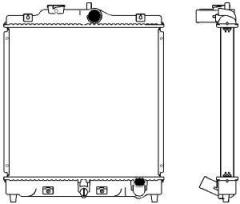Радиатор охлаждения SAKURA 2212-1004