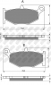 Колодки тормозные мото NIBK PM228