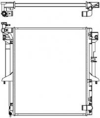Радиатор охлаждения SAKURA 33211053