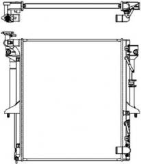 Радиатор охлаждения SAKURA 3321-1077