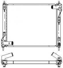 Радиатор охлаждения SAKURA 3341-8511