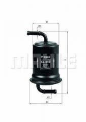 Фильтр топливный MAHLE/KNECHT KL 512