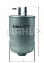 Фильтр топливный MAHLE/KNECHT KL 752/5D