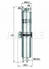Фильтр топливный MAHLE/KNECHT KLH 12