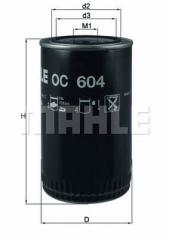 Фильтр масляный MAHLE/KNECHT OC 604