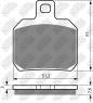 Колодки тормозные мото NIBK PM152