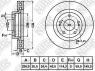 Диск тормозной NIBK RN21001V