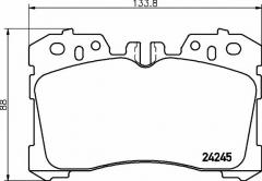 Колодки тормозные дисковые TEXTAR 2424502