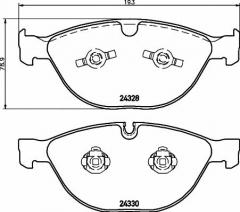 Колодки тормозные дисковые TEXTAR 2432801
