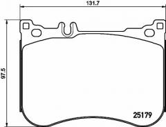 Колодки тормозные дисковые TEXTAR 2517903