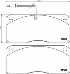 Колодки тормозные дисковые TEXTAR 2903902