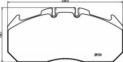 Колодки тормозные дисковые TEXTAR 2913103