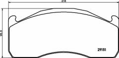 Колодки тормозные дисковые TEXTAR 2915102