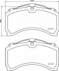 Колодки тормозные дисковые TEXTAR 2924401