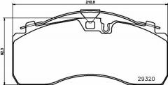 Колодки тормозные дисковые TEXTAR 2932001