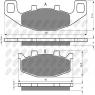 Колодки тормозные мото NIBK PM529