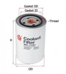 Фильтр охлаждающей жидкости SAKURA WC7101