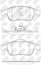 Колодки тормозные NIBK PN0551