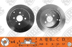 Диск тормозной NIBK RN1308