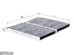 Фильтр салона угольный SAKURA CAC6511, к-т 2шт