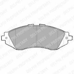 Колодки тормозные дисковые DELPHI LP1304