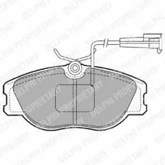Колодки тормозные дисковые DELPHI LP1400