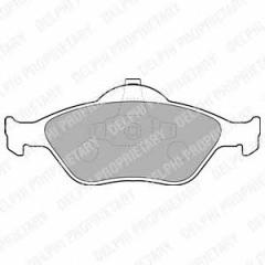 Колодки тормозные дисковые DELPHI LP1469