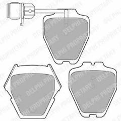 Колодки тормозные дисковые DELPHI LP1633