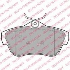 Колодки тормозные дисковые DELPHI LP2071