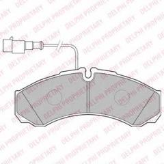 Колодки тормозные дисковые DELPHI LP2185