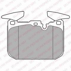 Колодки тормозные дисковые DELPHI LP2449