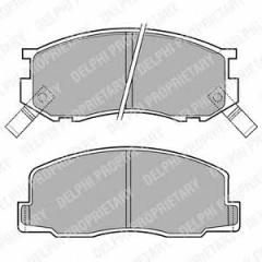 Колодки тормозные дисковые DELPHI LP409