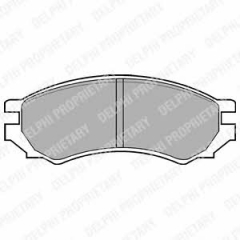 Колодки тормозные дисковые DELPHI LP670