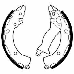 Колодки тормозные барабанные DELPHI LS2087