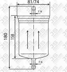 Фильтр топливный JS ASAKASHI FS2070