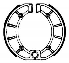 Колодки барабанные мото FERODO FSB859
