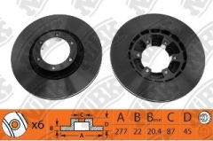 Диск тормозной NIBK RN1335V