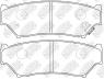 Колодки тормозные NIBK PN9301