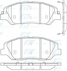 Колодки тормозные FiT FP1202