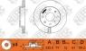 Диск тормозной NIBK RN1350V
