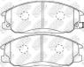 Колодки тормозные передние NIBK PN0103